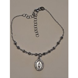 Bracciale argento 925 Madonnina pendente