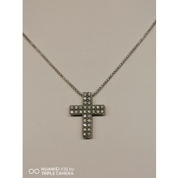 Collana Croce Zirconi  Piccola Brunita